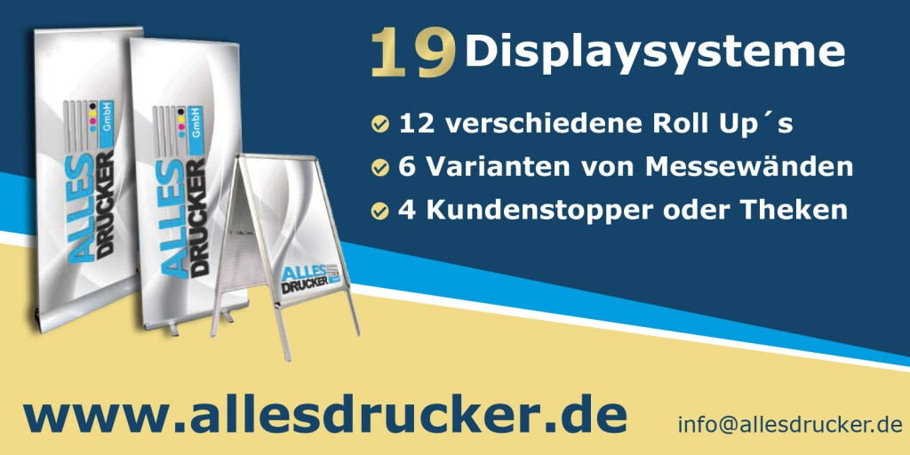 Roll-Up Displays vom Allesdrucker